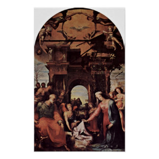 Domingo di Pace Beccafumi - nacimiento de Cristo Posters