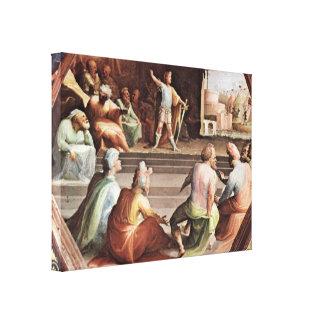 Domingo di Pace Beccafumi - Scipio Lienzo Envuelto Para Galerías