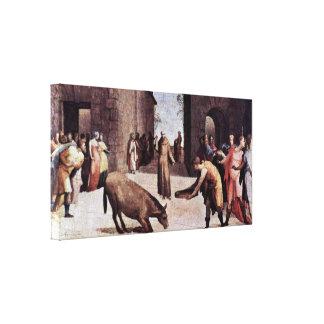 Domingo di Pace Beccafumi - St Anthony de Padua Impresiones De Lienzo
