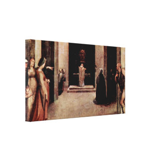 Domingo di Pace Beccafumi - St Catherine Impresión De Lienzo