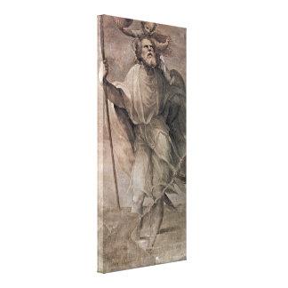 Domingo di Pace Beccafumi - St Christopher Impresión De Lienzo