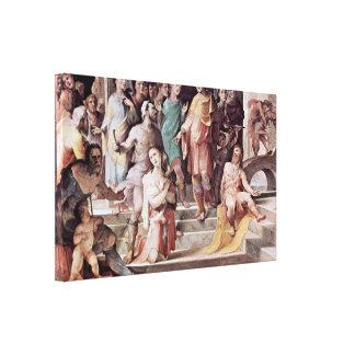 Domingo di Pace Beccafumi - víctima de Seleucus Impresión En Lona Estirada