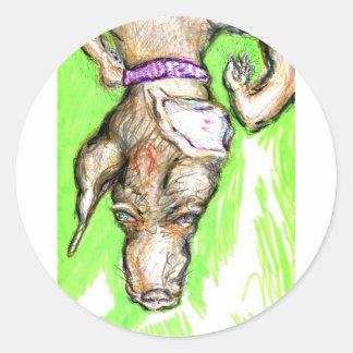 Domingo-Helado polimórfico de Nomine del Canidae Pegatina Redonda