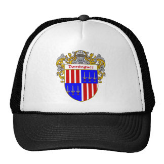 Dominguez Coat of Arms/Family Crest (Mantled) Trucker Hat