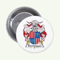 Dominguez Family Crest Button
