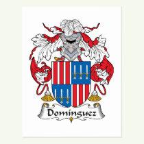 Dominguez Family Crest Postcard