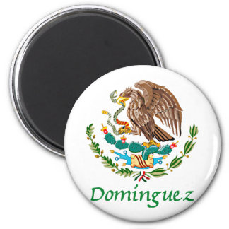 Domínguez Mexican National Seal 2 Inch Round Magnet