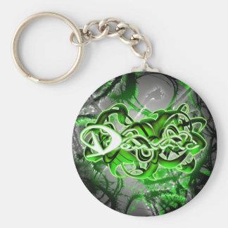 Dominic Basic Round Button Keychain