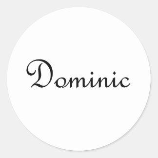 Dominic Classic Round Sticker