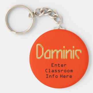 Dominic ID Keychain