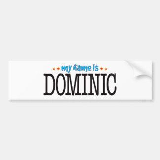 Dominic Name Car Bumper Sticker