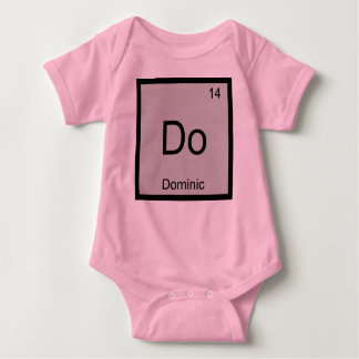 Dominic Name Chemistry Element Periodic Table Baby Bodysuit