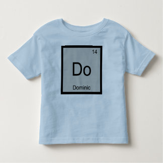 Dominic Name Chemistry Element Periodic Table Toddler T-shirt