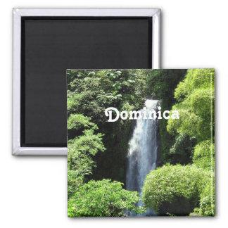 Dominica 2 Inch Square Magnet
