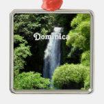 Dominica Adorno Navideño Cuadrado De Metal