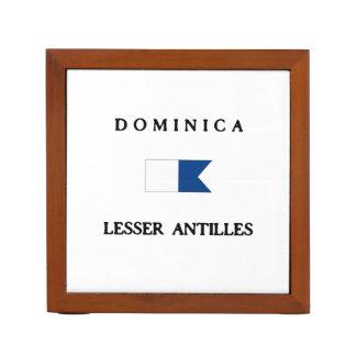 Dominica Alpha Dive Flag Pencil Holder