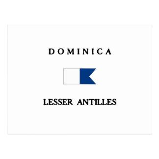Dominica Alpha Dive Flag Postcard