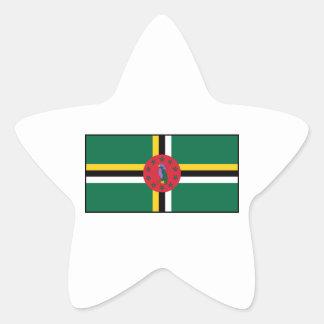 Dominica - bandera dominicana colcomanias forma de estrella