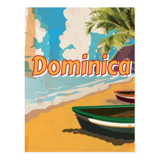 Dominica Beach vacation Poster Postcard