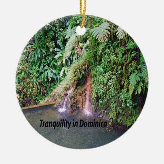 Dominica Ceramic Ornament