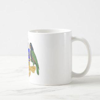 Dominica coat of arms coffee mug