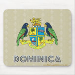 Dominica Coat of Arms Mouse Pad