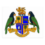 Dominica coat of arms post card