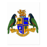 Dominica coat of arms postcards