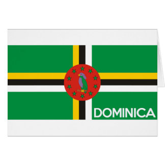 dominica country flag symbol name text card