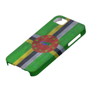Dominica distressed flag iPhone SE/5/5s case