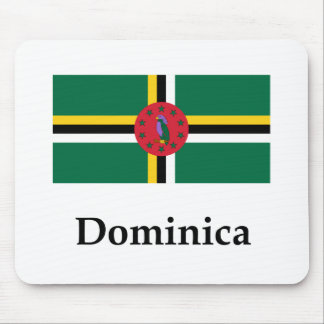 Dominica Flag And Name Mouse Pad