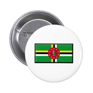 Dominica Flag Pinback Buttons
