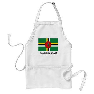 Dominica flag chef apron