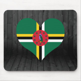 Dominica flag colored mouse pad