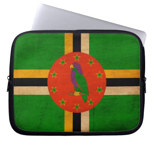 Dominica Flag Computer Sleeves