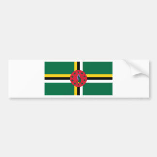 Dominica Flag DM Bumper Sticker
