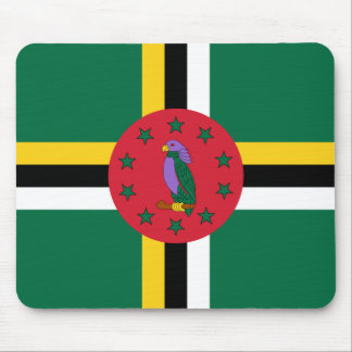 Dominica Flag DM Mouse Pad