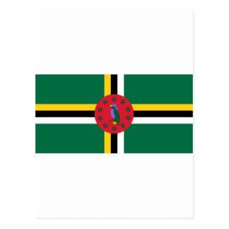 Dominica Flag DM Postcard