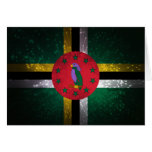 Dominica Flag Firework Greeting Cards