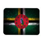 Dominica Flag Firework Vinyl Magnets