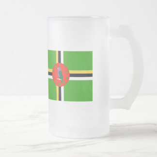 Dominica Flag Frosted Glass Beer Mug