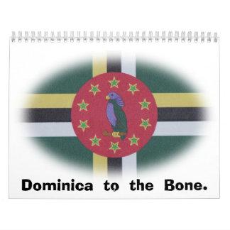 Dominica flag.jpg calendario de pared