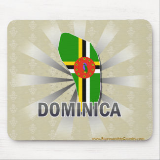 Dominica Flag Map 2.0 Mouse Pad