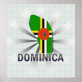 Dominica Flag Map 2.0 Print