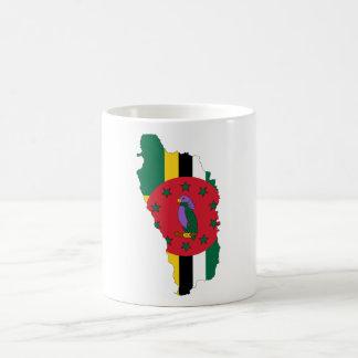 Dominica Flag map DM Basic White Mug