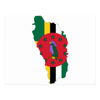 Dominica Flag map DM Postcard