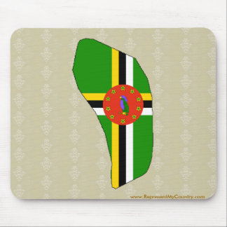 Dominica Flag Map full size Mouse Pads