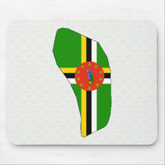 Dominica Flag Map full size Mousepad