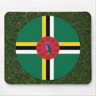 Dominica Flag on Grass Mouse Pad
