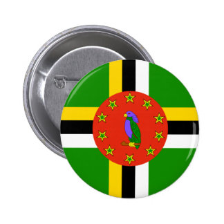 Dominica Flag Pinback Button